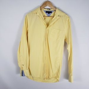TOMMY HILFIGER Men's Casual Yellow Button Shirt